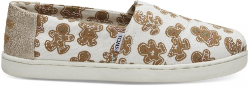 Toms Gingerbread Youth Classics Slip-On Shoes