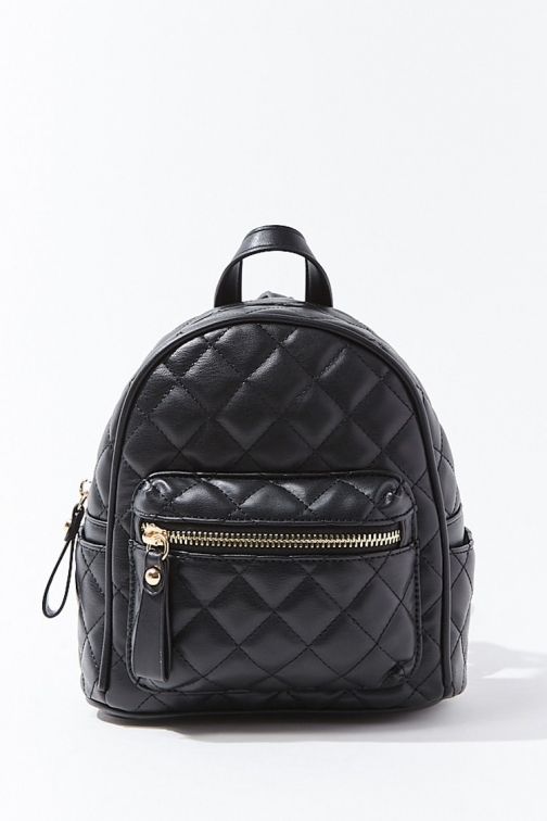 Forever21 Forever 21 Quilted Mini , Black Backpack