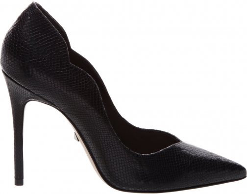 Schutz Shoes Monaliza Pump - 6.5 Black Snake Embossed Leather Pumps