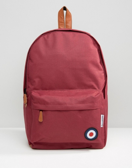Lambretta With Target Burgandy Backpack
