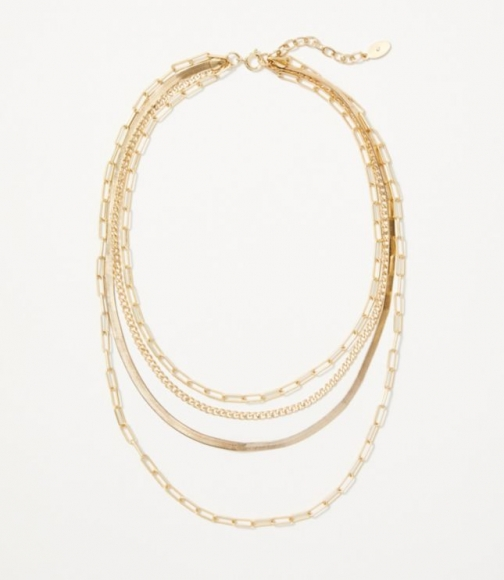 Loft Chain Link Layered Necklace