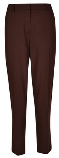 Dorothy Perkins Chocolate Ankle Grazer Trousers Trouser