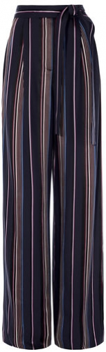 Karen Millen Striped Wide-Leg Trousers Wide Leg Trouser