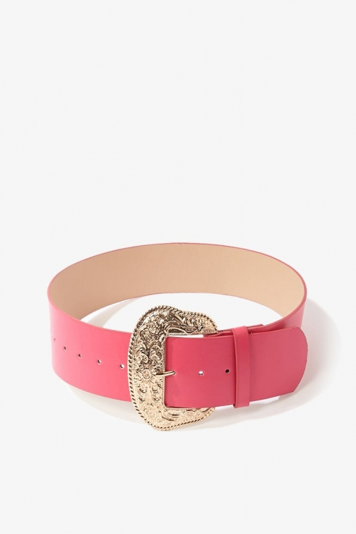 Forever21 Forever 21 Wide Statement Waist , Hot Pink Belt