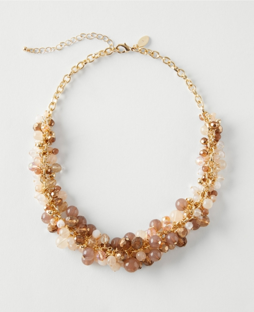 Ann Taylor Factory Cluster Statement Necklace