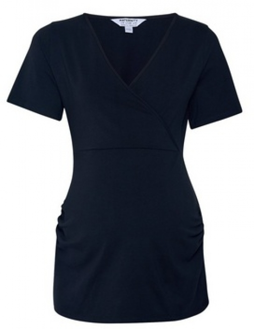 Dorothy Perkins Maternity Black Ruched Wrap Top