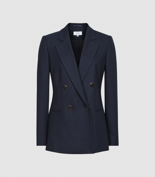 Reiss Andrea - Double Breasted Navy, Womens, Size 4 Blazer