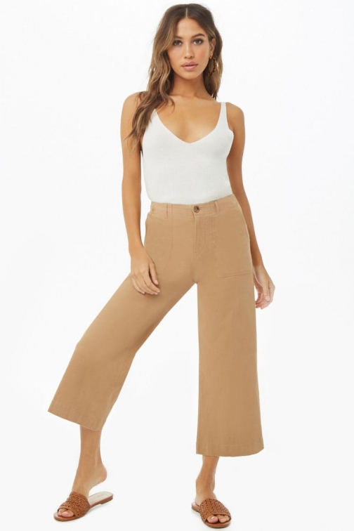 Forever21 Forever 21 Ankle Pants , Beige Chino