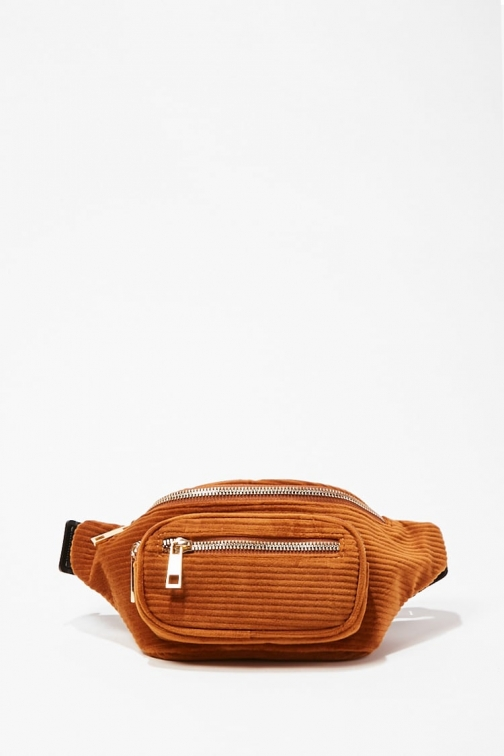 Forever21 Forever 21 Corduroy , Brown Fanny Pack