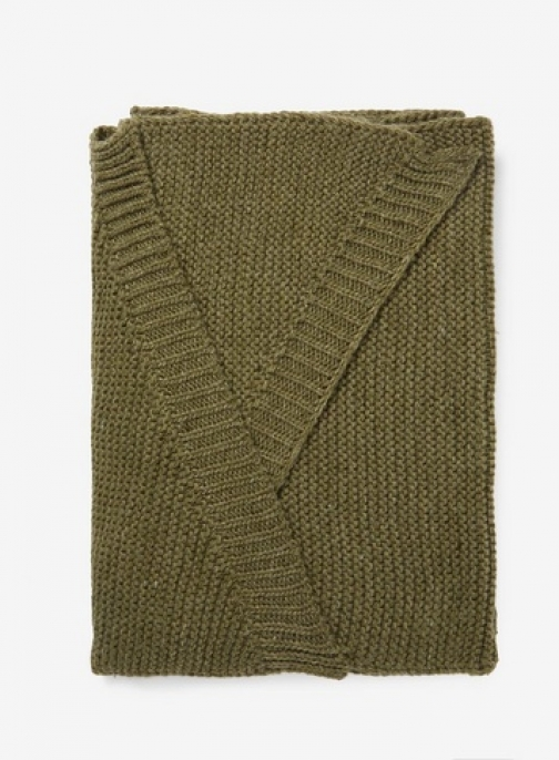 Dorothy Perkins Womens **Pieces Dark Green Wool - Green, Green Scarf