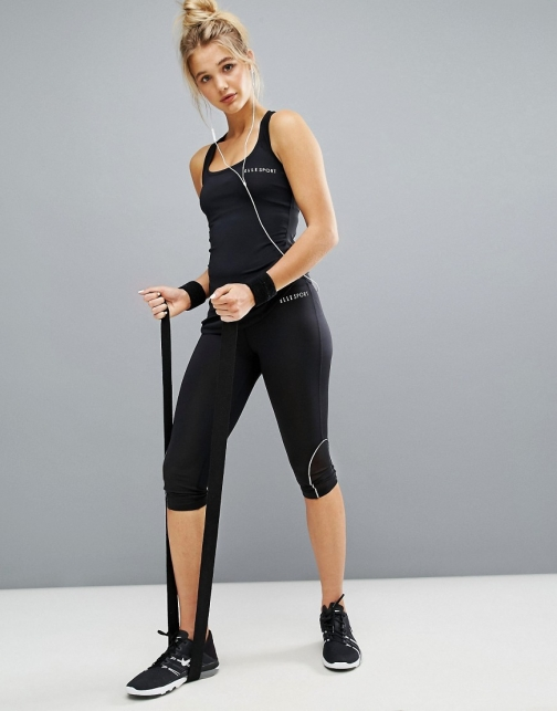 Elle Sport Deep Waisted Capri Gym Legging