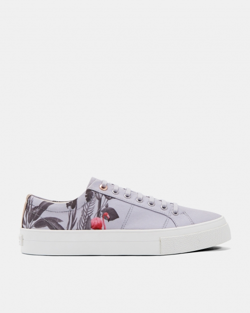 Ted Baker Printed Canvas Trainer
