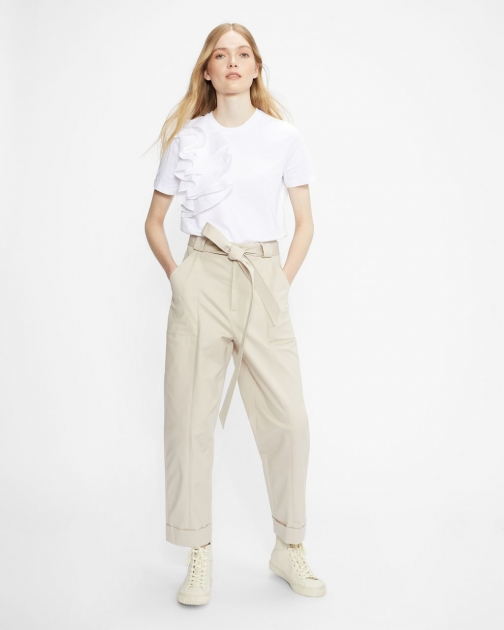 Ted Baker Relaxed Cotton Tee With Frill T-Shirt
