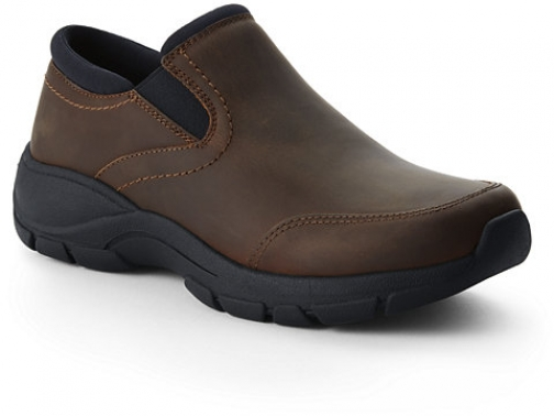 Lands' End Women's All Weather Leather Moc - Lands' End - Brown - 6 Shoes