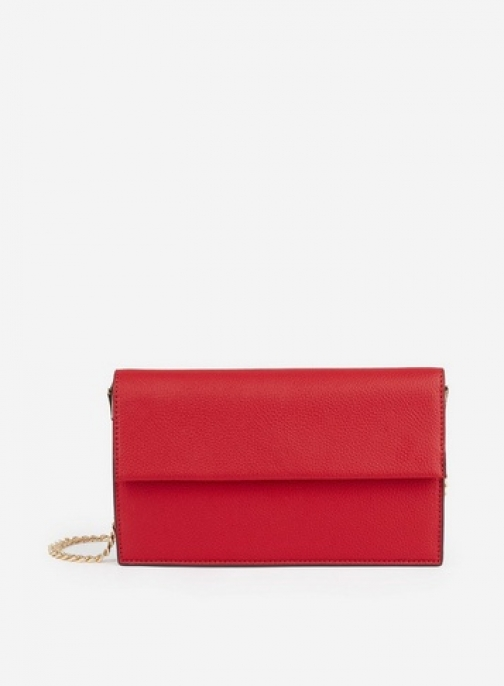 Dorothy Perkins Red Chain Detail Bag Clutch