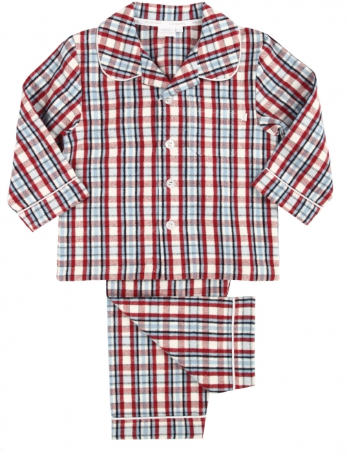 House Of Fraser Mini Vanilla Boys Traditional Woven Pyjama