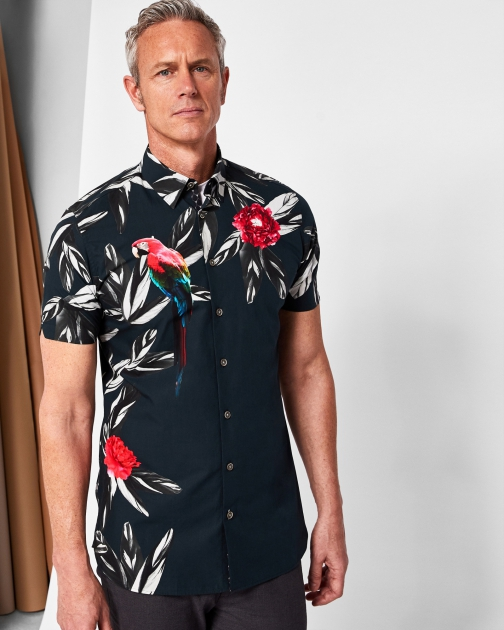 Ted Baker Printed Parrot Shirt