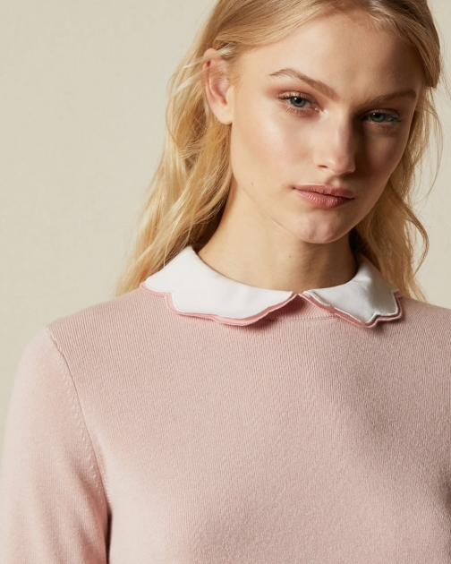 Ted Baker Mockable With Scallop Hem Jumper