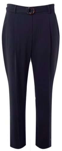 Dorothy Perkins Womens Navy Belted - Blue, Blue Tapered Trouser