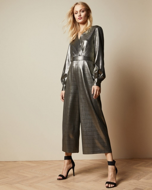 Ted Baker Metallic Wrap Jumpsuit