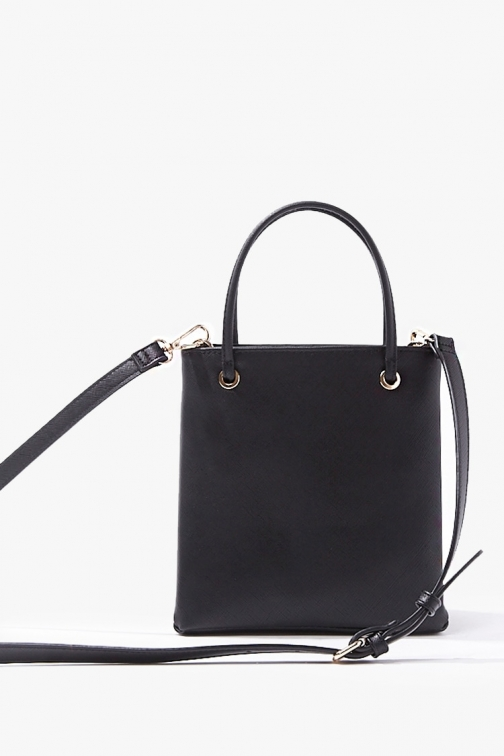 Forever21 Forever 21 Faux Leather Bag , Black Tote