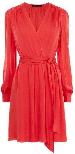 Karen Millen Ruched Wrap Dress