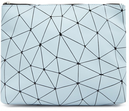 Forever21 Forever 21 Geo Makeup Blue Pouch