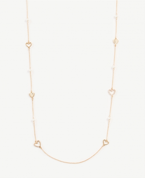 Ann Taylor Heart Station Necklace
