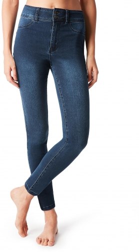 Calzedonia - High-Waisted Push-Up , XS, Blue, Women Jeans