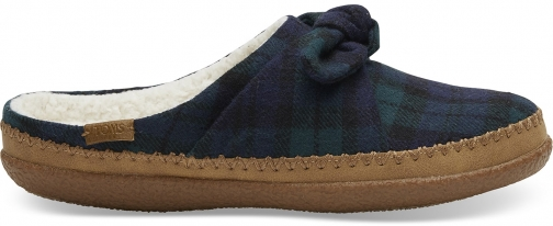 Toms Spruce Plaid Felt Bow Women's Ivy Slippers
