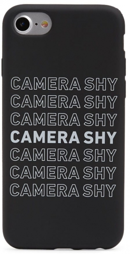 Forever21 Forever 21 Camera Shy Graphic Phone For IPhone 6/7/8 , Black/white Case
