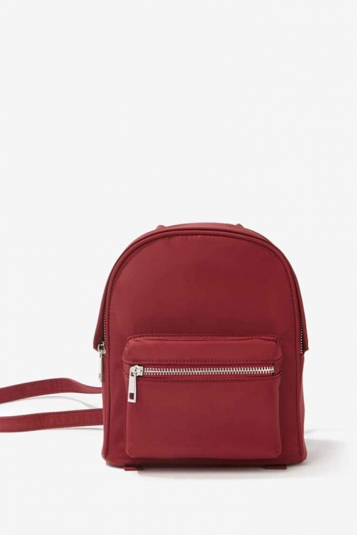 Forever21 Forever 21 Woven Mini , Burgundy Backpack