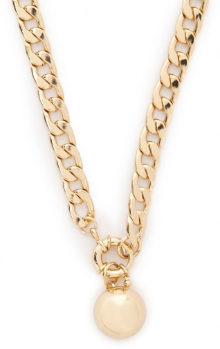 Forever21 Forever 21 Curb Chain Ball Gold Chokers