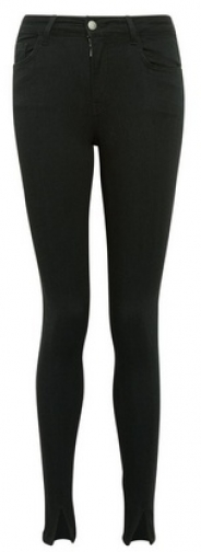 Dorothy Perkins Black Split Hem Alex Jeans