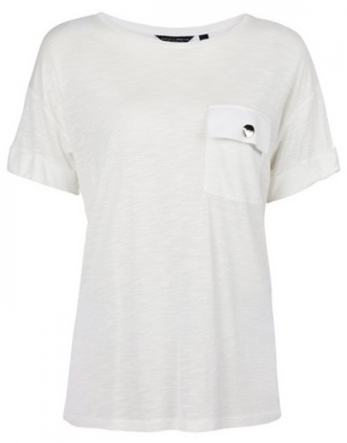 Dorothy Perkins Ivory Utility T-Shirt
