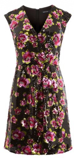 Karen Millen Sequin Floral Mini Dress