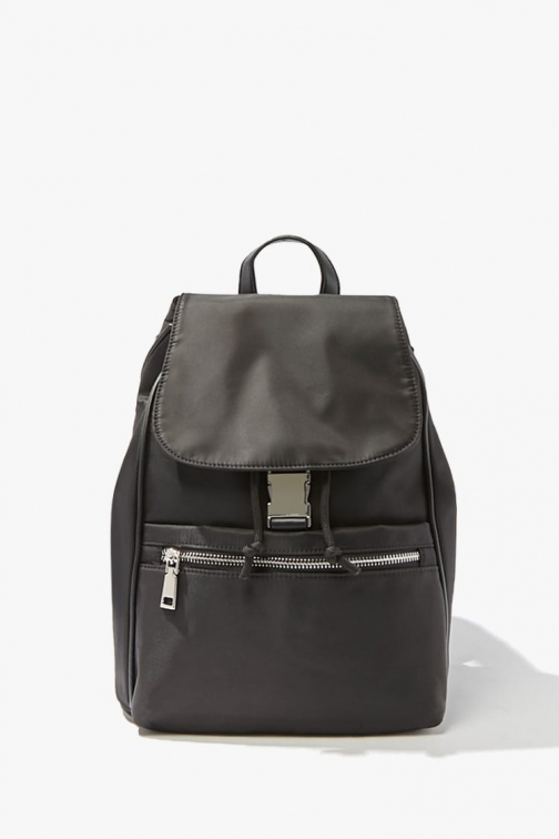 Forever21 Forever 21 Flap Top , Black Backpack