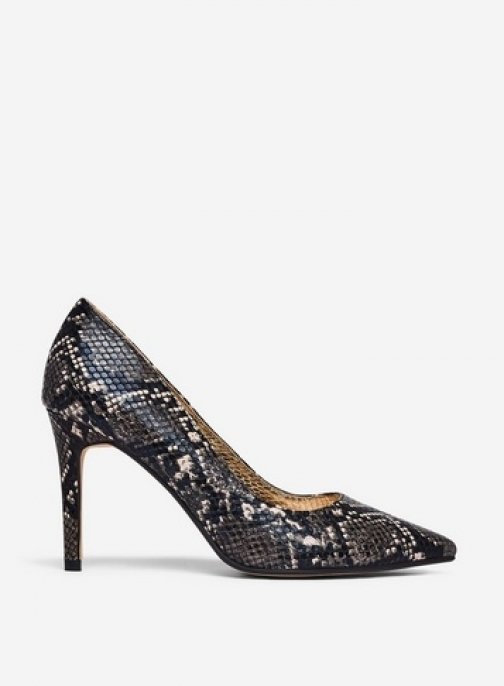 Dorothy Perkins Wide Fit Multi Colour Snake Print Pu 'Danielle' Shoes Court