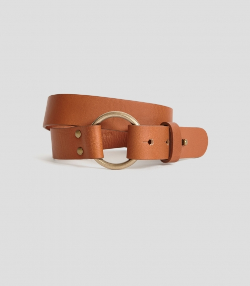 Reiss Carrie - Leather Strap Tan, Womens, Size XS Belt