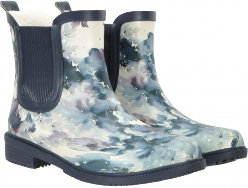Mountain Warehouse Womens Printed Winter Rubber Ankle - Blue Welly