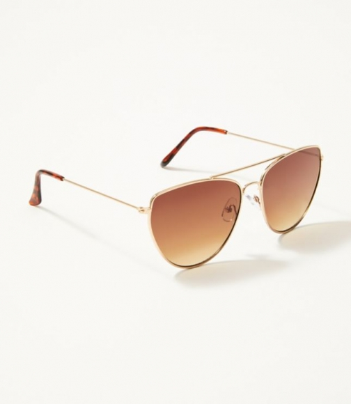 Loft Large Metallic Cateye Sunglasses