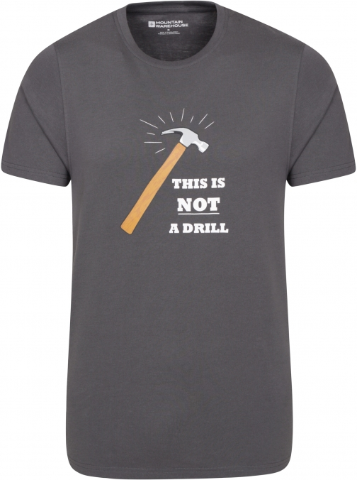 Mountain Warehouse This Is Not A Drill Mens Tee - Grey T-Shirt