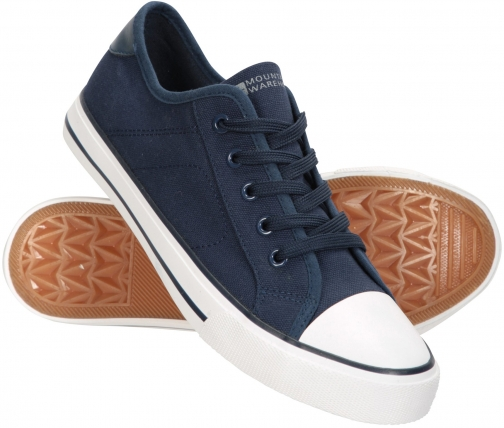 Mountain Warehouse Womens Canvas Plimsoll - Navy Trainer