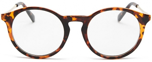 Forever21 Forever 21 Contrast Round-Eye Readers Brown/clear Eyewear