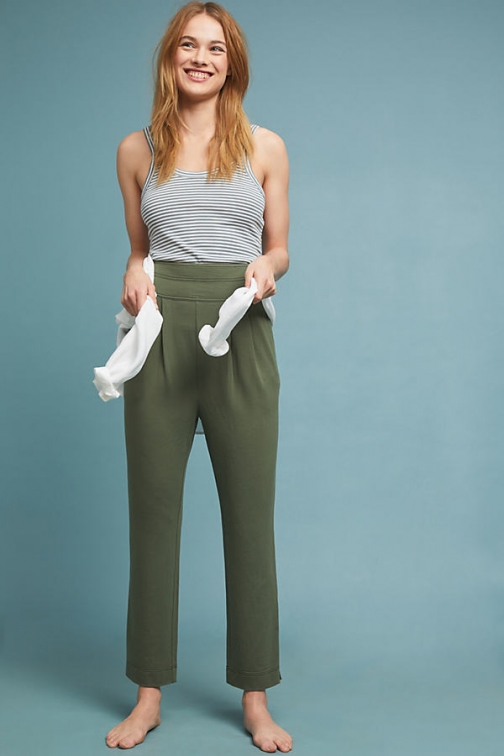 Anthropologie Maureen French-Terry Trousers Trouser