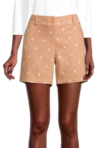 Loft Embroidered Dot With 6 Inch Inseam Short