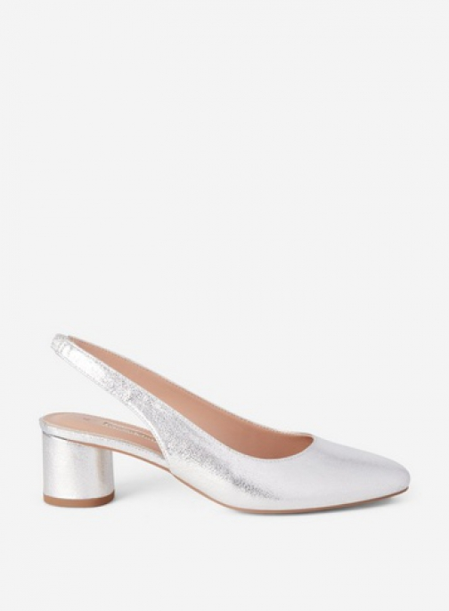 Dorothy Perkins Silver 'Daphy' Slingback Shoes Court
