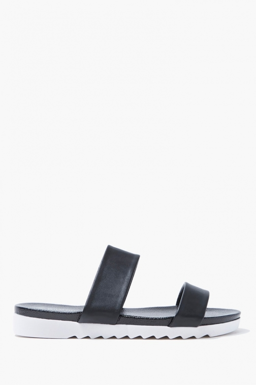 Forever21 Forever 21 Open Toe , Black Sandals