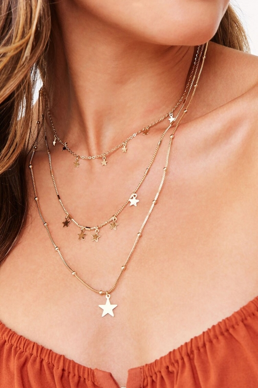 Forever21 Forever 21 Star Charm Necklace Set , Gold Jewellery