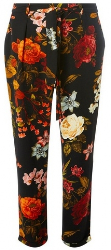 Dorothy Perkins Womens Black Floral Joggers- Black, Black Athletic Pant